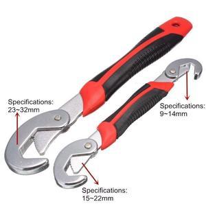 Image 2 - ユニバーサルレンチ調整可能なとグリップトルクレンチ高速蛇口ツールフックレンチセットツールキット家庭用ツールのための車修理