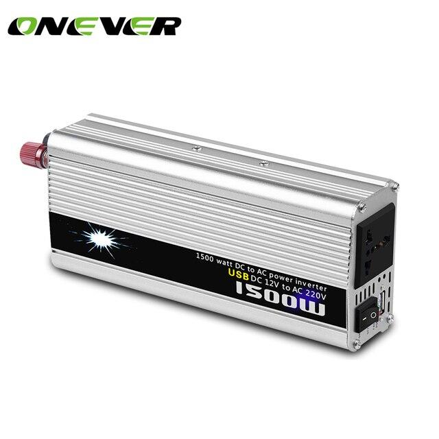 Onever 1500 W Inversor Carro 12 v 220 v com Carregador USB Conversor adaptador Conversor de Voltagem DC 12 a AC 220 Modificado Sine onda