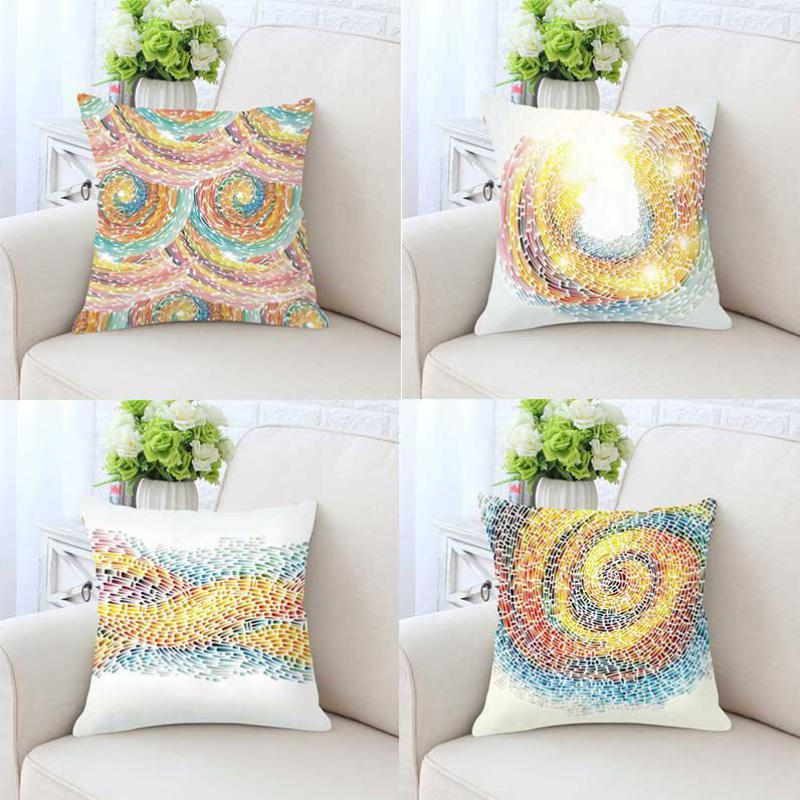 New Arrival 2018 Modern Home Decor Color Cushion Creative Turn Around Shine Colorful Soft Plush Decorative Sofa Throw Pillows