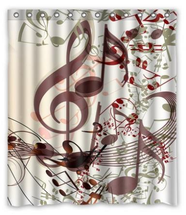 Online Get Cheap Music Shower Curtain Aliexpress Com Alibaba Group
