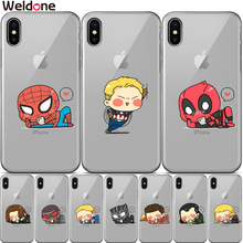 Cool Marvel Avengers Case For iPhone XS Max XR X 7 6 6s 8 Plus xs 5 5S SE Deadpool iron Man Spiderman Phone Cases Covers Etui marvel avengers case for iphone 11 pro max xs max xr x 7 6s 8 plus 5s se super iron man spiderman deadpool phone cases cover
