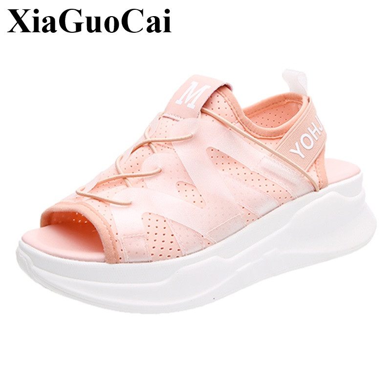 Summer New Casual Sheos Women Sandals Fashion Peep Toe Slip-on Platform Flats Sandals Breathable Light Single Shoes H363 35 bowtie ballet flats women sweet casual single shoes summer soft open toe sandals slip on fashion ladies large size 41 moccasins