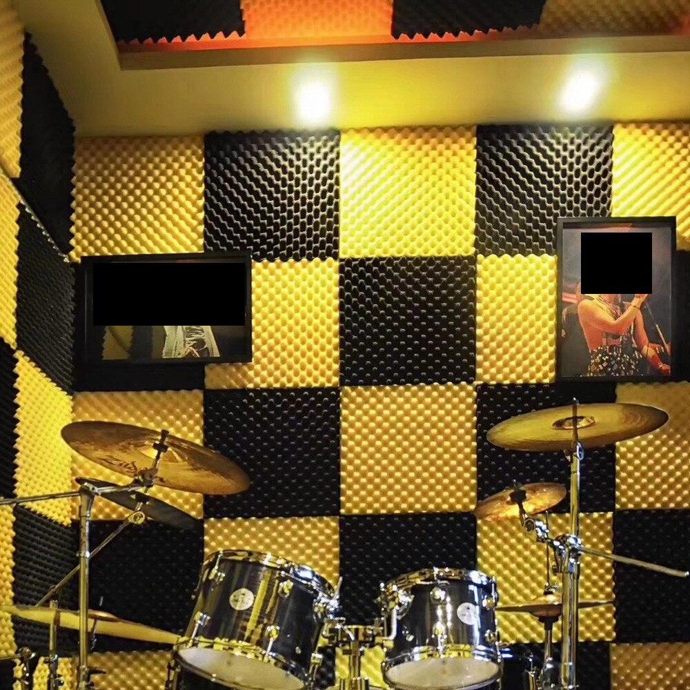 Wall Sticker Acoustic Foam Panel Sound Stop Absorption Sponge Studio KTV Soundproof muraux Adesivo De Parede Wall Decor Stickers herramientas para el aseo de la casa