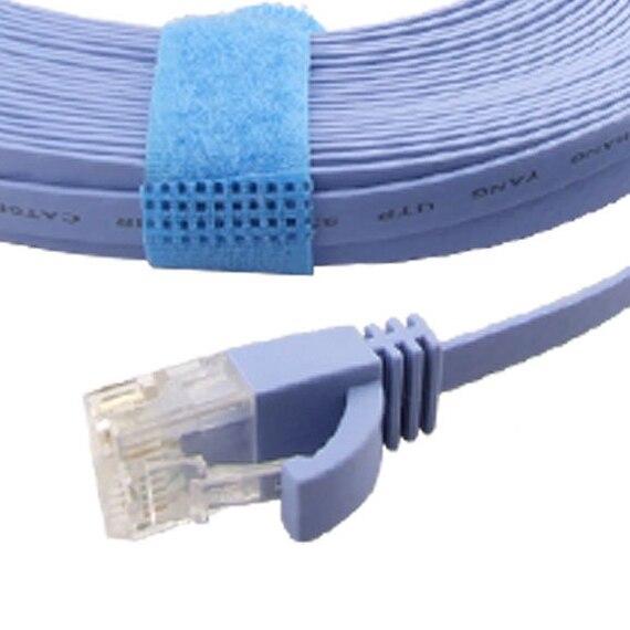 YOC-15M CAT-6 Flat UTP Ethernet Network Cable RJ45 Patch LAN Cord Blue