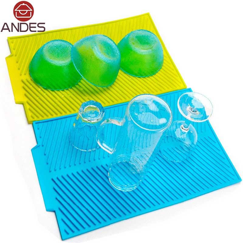 4 colors Premium Heat Resistant Silicone Plate Mat Table Mat Set Home Kitchen Pads Rectangle