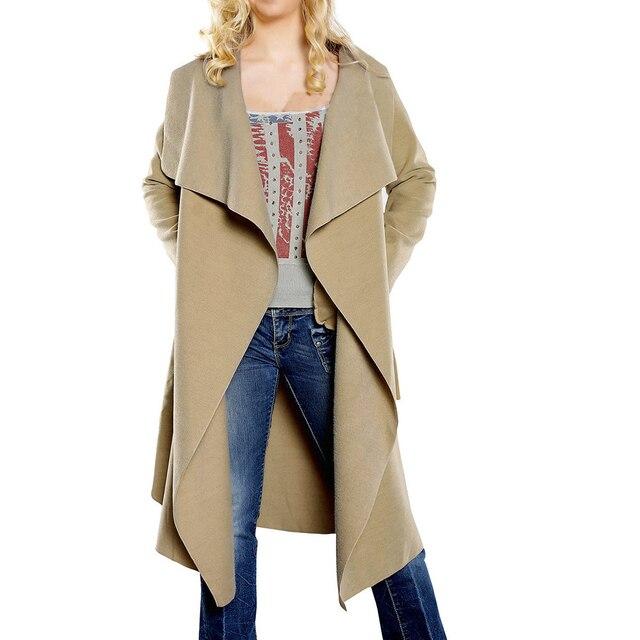 Manteau laine noir ceinture