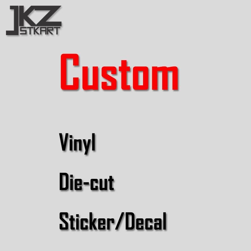 JKZ STKART Custom Vinyl Die Cut Stickers Decals Outdoor Car Sticker Decal ATV Motor Bike Truck Personalized Decorated Sticker
