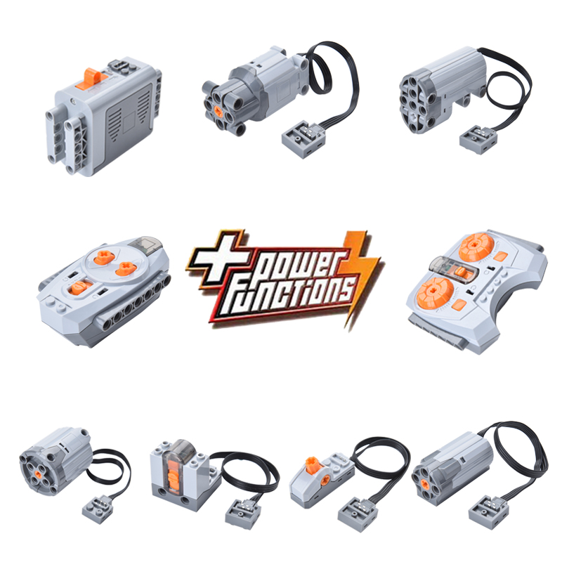 Motor Technic Series 8883 8881 8882 Train Remote Control Battery Box Switch LED Light Power Functions 20053 20001 3368 20006