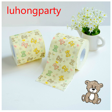 Free Shipping 60M 2packs Christmas Printing Toilet Paper Tissues Roll Novelty Tissue Wholesale