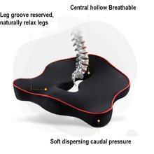 1 pc Chair cushion car seats for coccyx Memory Foam Seat Cushion Orthopedic Chair Pad Office Hips Tailbone Coccyx Protection(China)