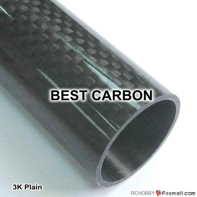 Livraison gratuite 4 pièces x 14mm x 12mm x 2000mmm haute qualité plaine brillant 3K Fiber de carbone tissu Tube enroulé