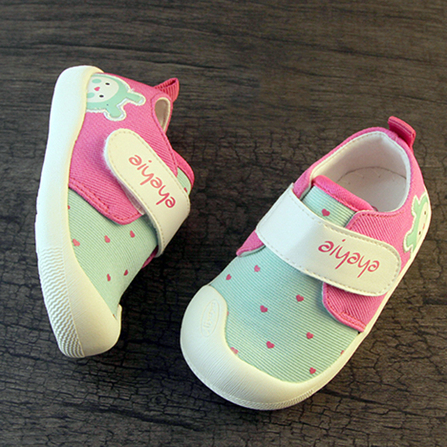 Canvas Sneakers Fabric Baby Booties For Girl Shoes First Walkers Sapato Infantil Menina Toddler Shoes Baby Moccasins 503119