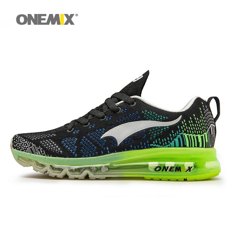 Onemix мужские спортивные кроссовки ритм музыки Женские кроссовки дышащая сетка открытый спортивной обуви свет пару обуви Большие размеры