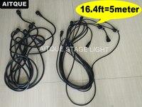 Professional stage lighting dmx cable waterproof ip65 5meter dmx outdoor 16.4 foot cable dmx512 3pin dmx ip65|Stage Lighting Effect| |  -