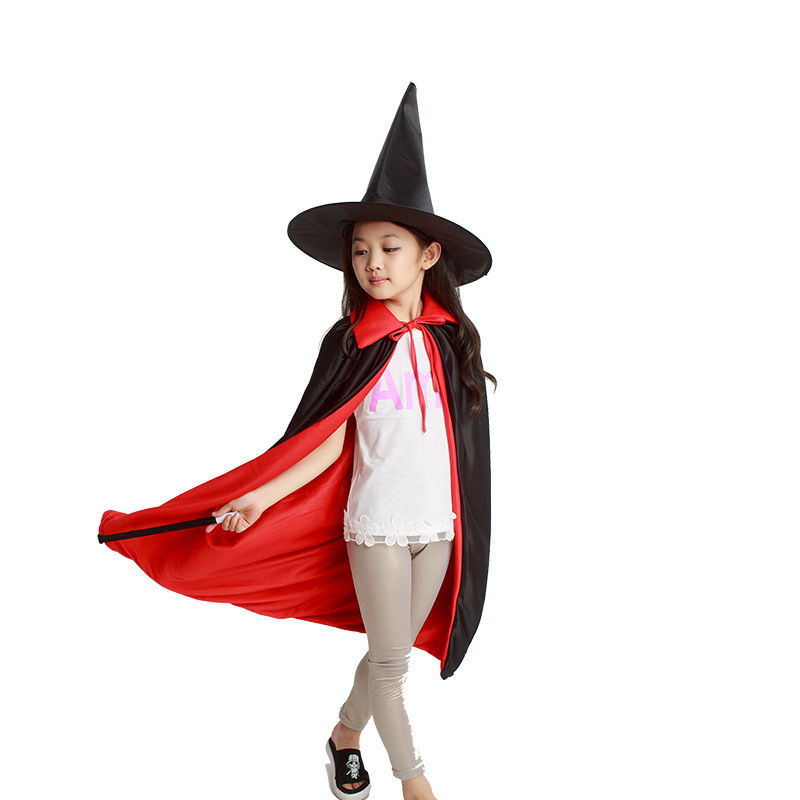 New Magician's Cape Magic Wand Costume Children's Halloween Show Cape Magic Hat Wizard Hat Magic Props