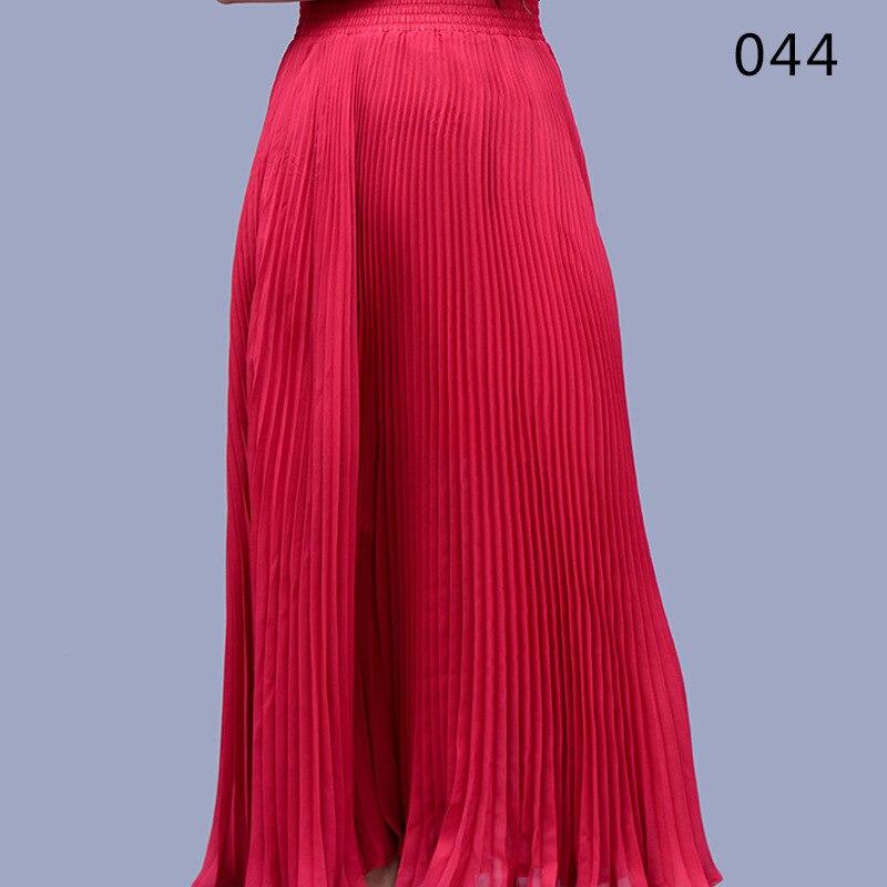 Vientisa spalva sifono ilgos sijonas elegantiškas pavasario vasaros - Moteriški drabužiai - Nuotrauka 6