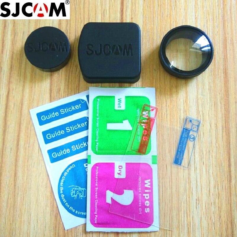 Clownfish For SJCAM Original SJ6 Legend Anti Scratch LCD Screen Lens Protector Film Glass UV Filter Lens Cap Cover For SJCAM SJ6