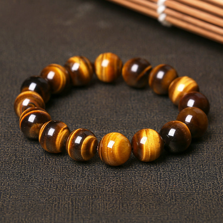 Natural Tiger's Eye Stone Bead Bracelet 1