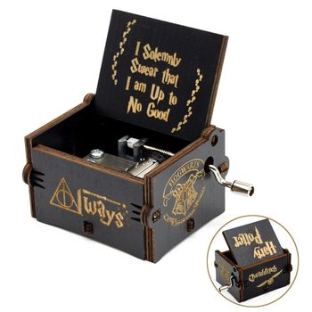 Engraved Wooden Harry Potter Music Box 1