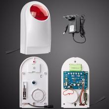 Wireless Outdoor Waterproof Flash Siren Sound Strobe Flash Alarm Siren For Wifi G90B G90E Home Security Alarm System