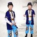 Ребенок Тибетский Танец Костюм Китайский Этнические Народные Танцы Одежда Мужчины Монголия Танец Сценический Костюм Дай Танцовщица Носите 89