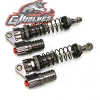GWOLVES 2PCS 1:10 RC Crawler 100mm Hydraulic Shock Absorber Springs for 1\/10 Axial SCX10 90022 90028 90021 RC4WD D90 RC Parts
