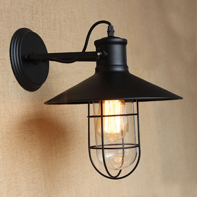 Lukloy Wall Lamp Lights Vintage Decorative Retro Cage Sconce Lighting For Corridor Balcony Decoration E27 In Lamps From