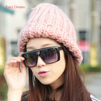 Fairy Dreams Women Men Knitting Beanies Autumn Winter Hat 2017 Unisex Preppy Style Brand Thick Pink Gray Fashion Adult Caps