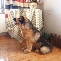 Моделирование милые приседания wlofhound 55x50 x см 22 см модель полиэтилена и меха собака модель украшения дома реквизит, модель подарок d712