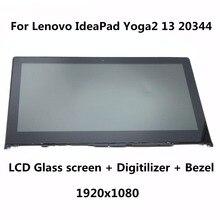 13.3 para lenovo yoga2 13 20344 laptop lcd pantalla + touch de cristal digitalizador + bisel asamblea completo b133han02.0 lp133wf2 sp a1 1920×1080