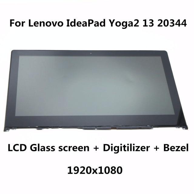 13.3 para lenovo yoga2 13 20344 laptop lcd pantalla + touch de cristal digitalizador + bisel asamblea completo b133han02.0 lp133wf2 sp a1 1920x1080