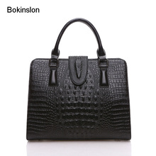 New 2017 Bag Women Handbag Cow Split Leather Embossed Female Handbags Solid Color Elegant Fashion Ladies Handbags Bags