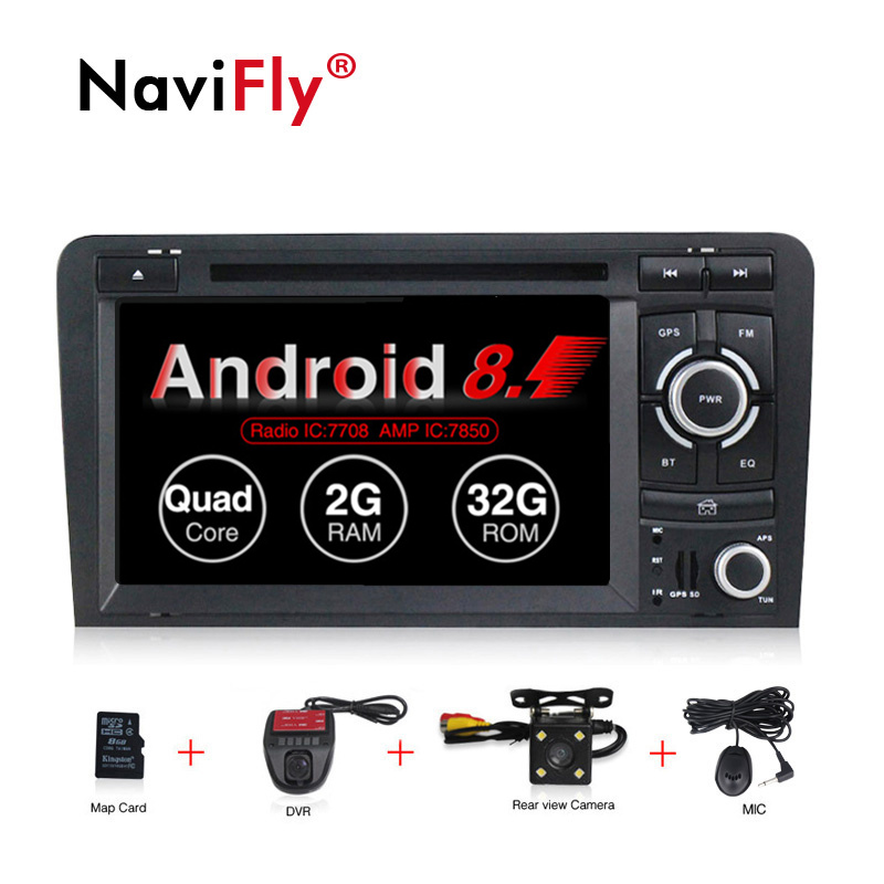 Free shipping! Android 8.1 Car dvd Player multimedia for Audi A3 S3 2003-2011 A3 S3 Car radio audio GPS Navigation WIFI BT RDS