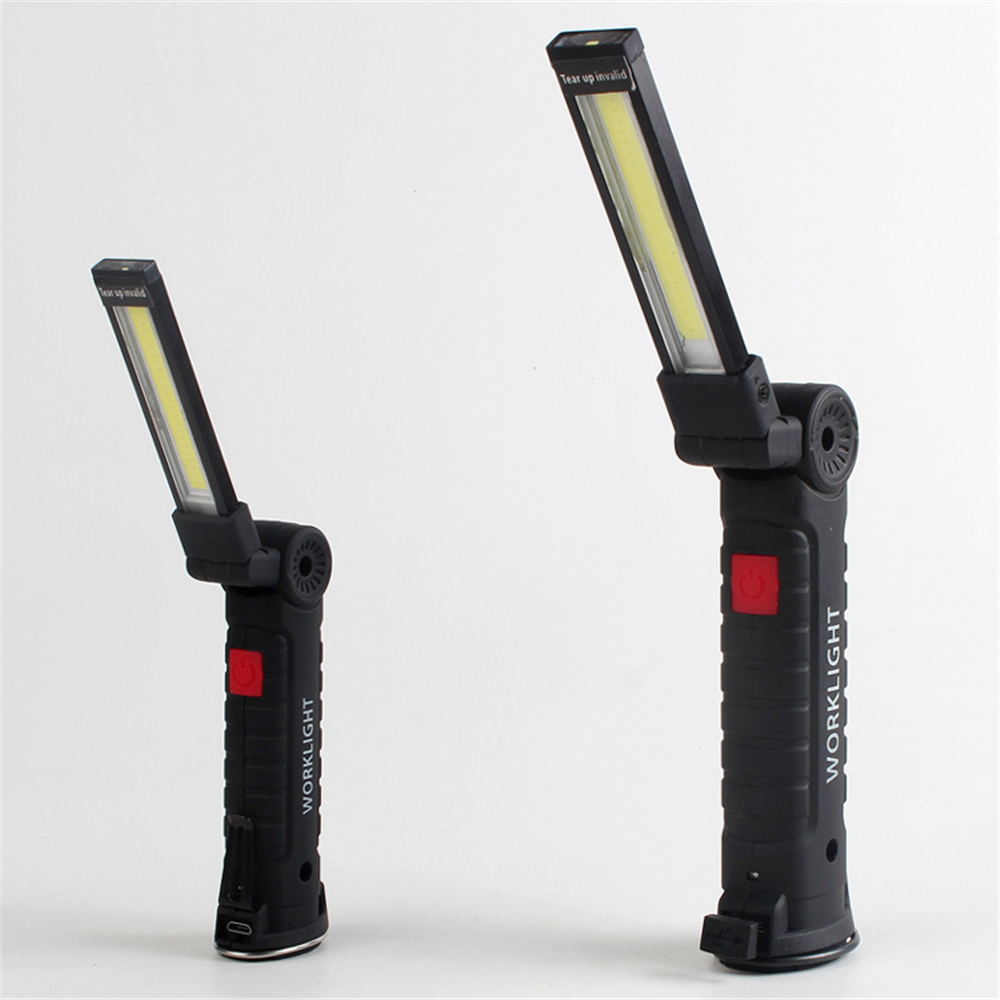 COB Handheld Movable Work Lights USB Charging Multi functional and Folding Emergency Lights Portable LED Work Lights 35 in Light Bar Work Light from Automobiles Motorcycles