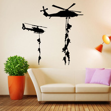 Armed Helicopter Wall Sticker Home Decor Living Room Art Wall Decoration Wallpaper For Kids Room Vinyl Stickers