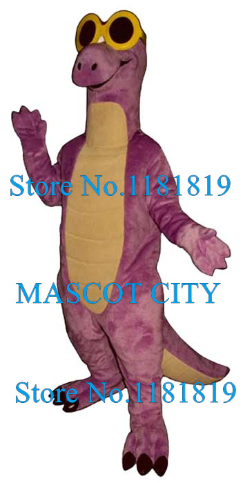 Cool purple dragon mascot costume adult cartoon dinosaur theme anime cosplay costumes carnival fancy dress mascotte suit kits