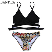 BANDEA Bikini Sexy Cross Brazilian Bikinis Women Swimwear Swimsuit Push Up Bikini Set Bathing Suits Swim