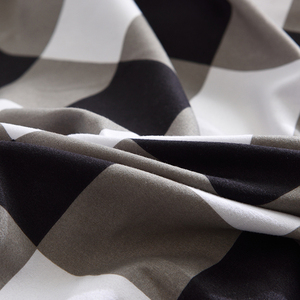 Image 3 - גבוהה איכות שחור לבן משובץ קצר דפוס מצעים סט מיטת רפידות מלך שמיכה כיסוי מיטת גיליון ציפות כיסוי סט 3 /4 יח\סט