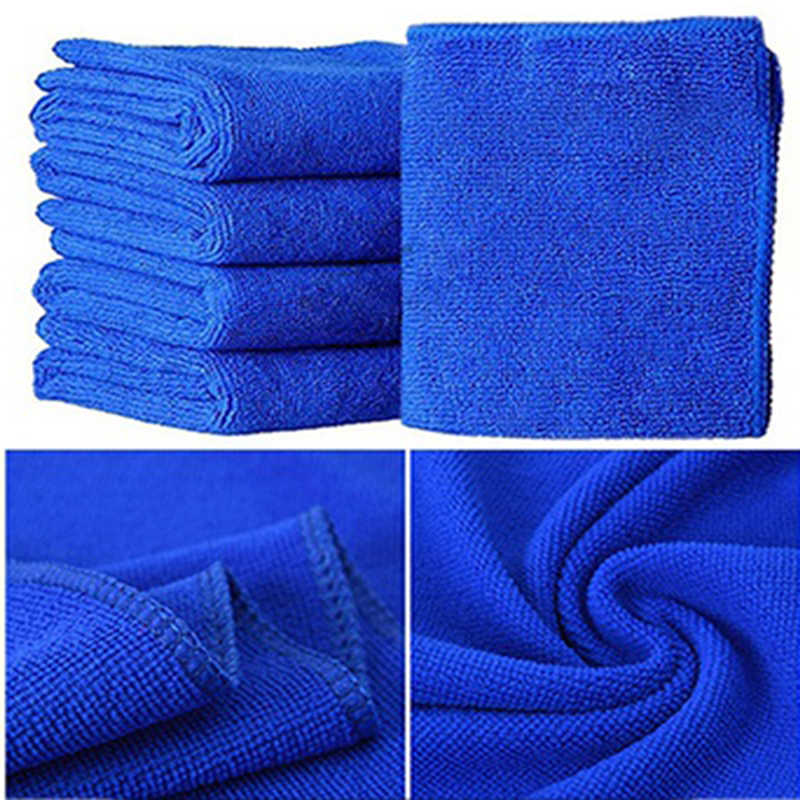 5pcs/10Pcs Microfibre Cleaning Auto Soft Cloth Washing Cloth Towel Duster 25*25cm Car Home Cleaning Micro fiber Towels