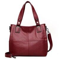 2018 Famous Brand 100 Genuine Leather Tote Bags Women Large Female Big Messenger Bag Ladies Luxury