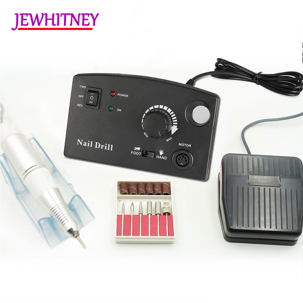 35000RPM Nail Drill Machine Electric Manicure Drill Accessory Pedicure Nail Art Drill Milling Cutter Polish Bits Tools Kits electric nail drill machine manicure pedicure portable nail art tools strong polishing machine cutter drill file bits set nails