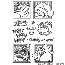 AZSG Christmas Santa Claus Snowman Reindeer Clear Stamps For DIY Scrapbooking/Card Making/Album Decorative Silicon Stamp Crafts