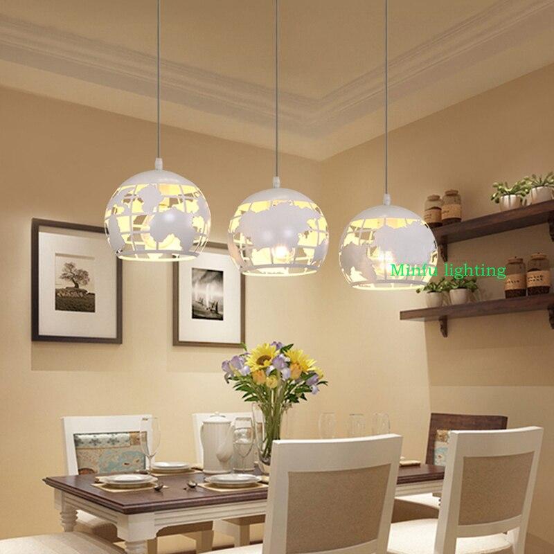 LED salle à manger droplight de moderne salon chambre blanc terre fer suspension lampe balcons couloirs bar suspension lampe