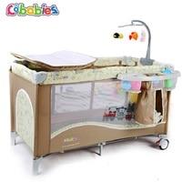 Новорожденных детские кроватки многофункциональный съемный портативный BB кровать складные кроватки Американский детские игры кровать