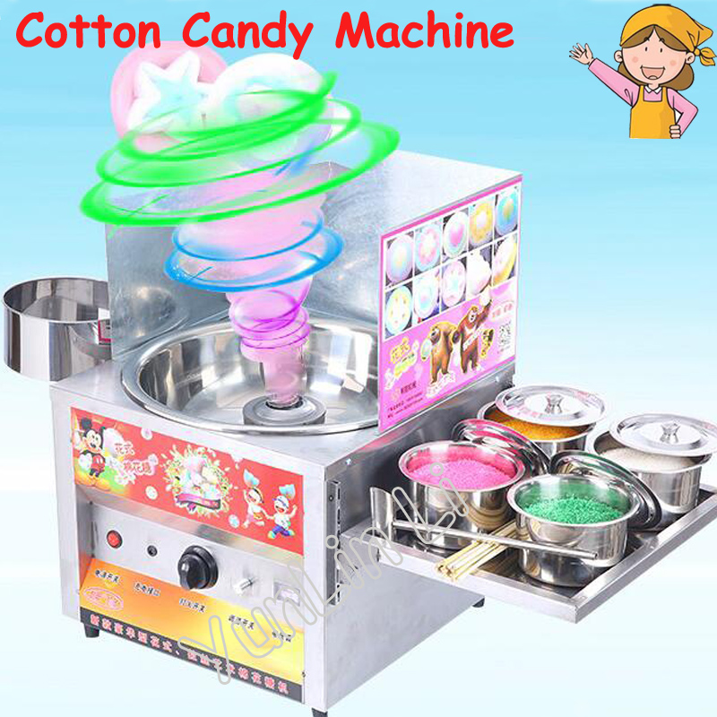 цена на Gas Cotton Candy Machine Commercial Large Capacity Cotton Candy Maker Various Floss Spun Sugar Machine