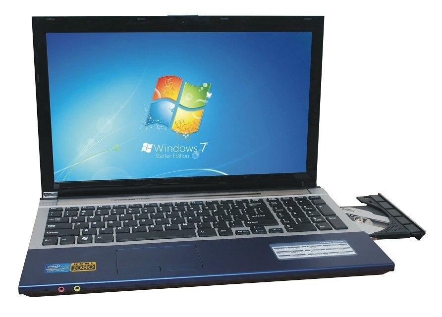 8G DDR3+2000G HDD game Laptop 15.6inch Intel Pentium N3520 Quad-core Windows 10 Notebook Computer Built-in WIFI Bluetooth DVD-RW