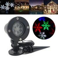 IKVVT Xmas Snowflake Di Chuyển Lấp Lánh Laser Chiếu Ánh Sáng Sao Đèn LED Cảnh