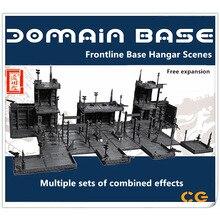 CG Universal HANGAR garage frontline base scene for Bandai Gundam free combination DC010
