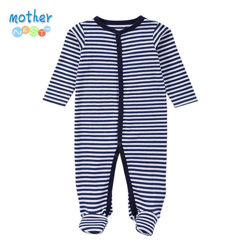 11Baby Boys Girls Long Sleeve Rompers 2016 Autumn and Winter Newborn Boys Striped Jumpsuit Infant Baby Clothing Retail
