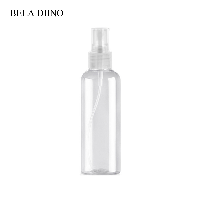 Image 4 - 5Pcs Fine Mist Plastic PET Spray Bottle 100ml Travel Cosmetic Bottles Set Makeup Liquid Container Refillable Perfume Atomizer-in Refillable Bottles from Beauty & Health